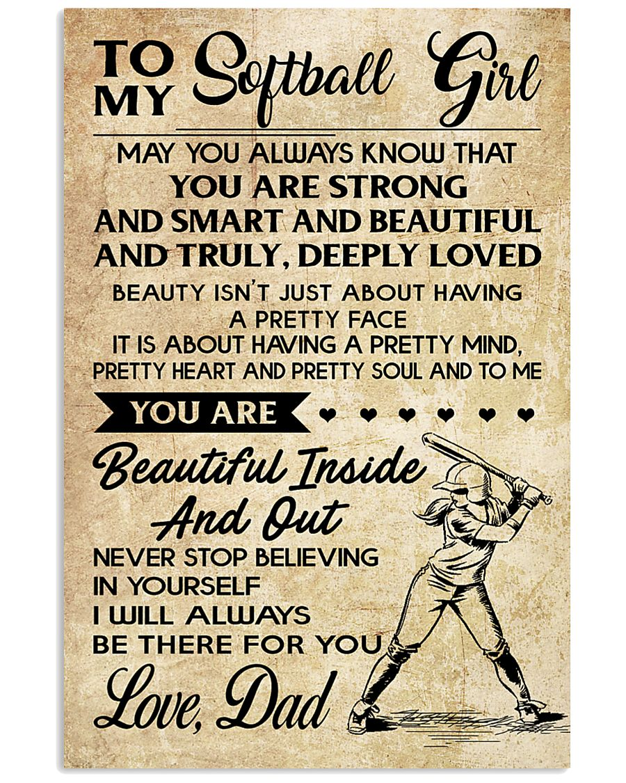 TO MY Softball Girl DAD 24x36 Poster