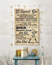 TO MY Softball Girl DAD 24x36 Poster lifestyle-holiday-poster-3