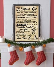 TO MY Softball Girl DAD 24x36 Poster lifestyle-holiday-poster-4