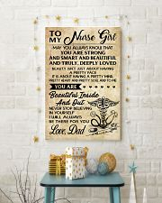 TO MY Nurse Girl dad 16x24 Poster lifestyle-holiday-poster-3