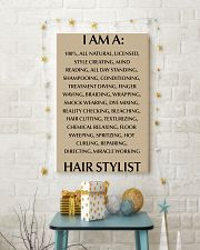 I AM A HIR STYLISY- 100 ALL NATURAL 11x17 Poster lifestyle-holiday-poster-3