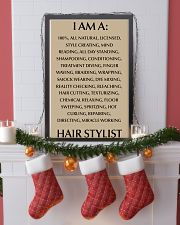 I AM A HIR STYLISY- 100 ALL NATURAL 11x17 Poster lifestyle-holiday-poster-4
