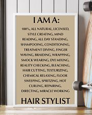 I AM A HIR STYLISY- 100 ALL NATURAL 11x17 Poster lifestyle-poster-4