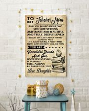 TO MY TEACHER MOM DAUGHTER 16x24 Poster lifestyle-holiday-poster-3