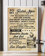 TO MY TEACHER MOM DAUGHTER 16x24 Poster lifestyle-poster-4