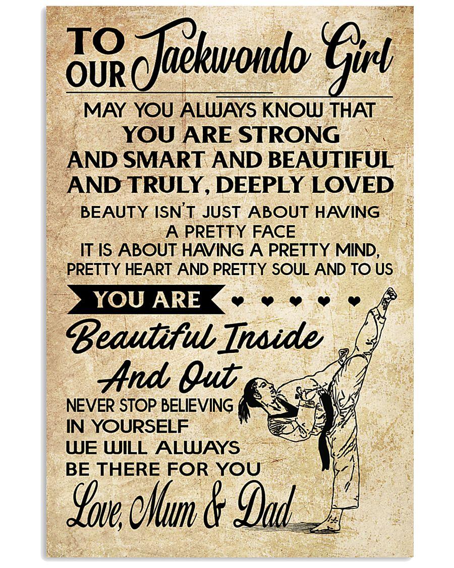 2 TO MY Taekwondo Girl - Mum - Dad 16x24 Poster