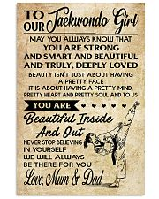 2 TO MY Taekwondo Girl - Mum - Dad 16x24 Poster front