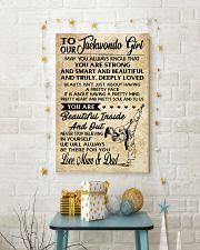 2 TO MY Taekwondo Girl - Mum - Dad 16x24 Poster lifestyle-holiday-poster-3