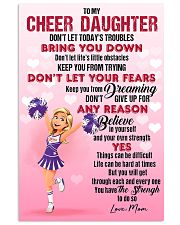 CHEER DAUGHTER - DON'T LET TODAY'S TROUBLES POSTER 11x17 Poster front