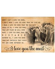 ELEPHANT - I LOVE YOU THE MOST 17x11 Poster front