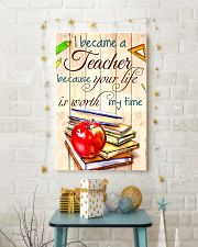 I BECAME A TEACHER BECAUSE YOU LIFE POSTER 11x17 Poster lifestyle-holiday-poster-3