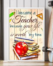 I BECAME A TEACHER BECAUSE YOU LIFE POSTER 11x17 Poster lifestyle-poster-4