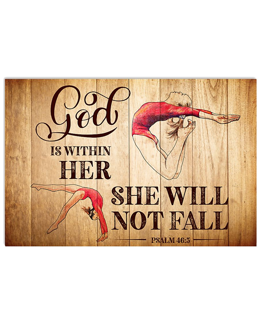 GYMNASTICS - GOD IS WITHIN HER 17x11 Poster