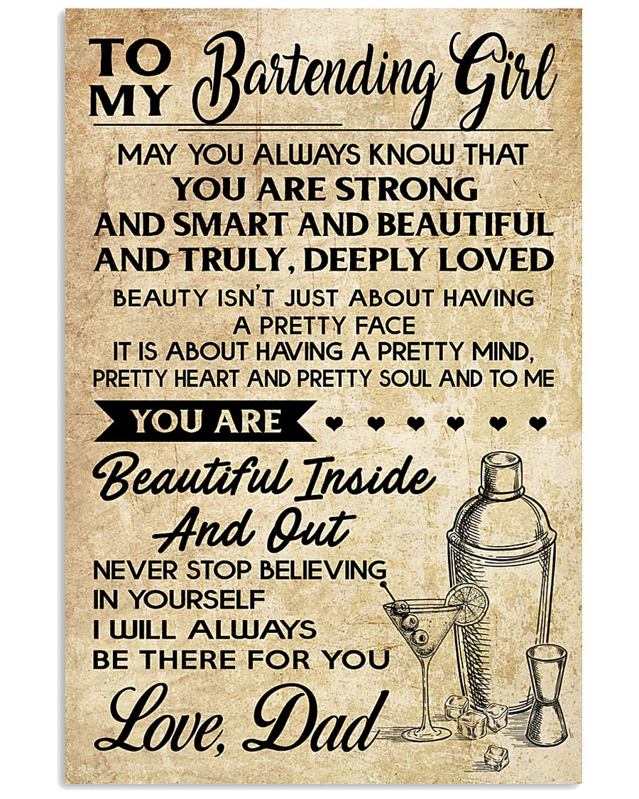 TO MY BARTENDING GIRL DAD 16x24 Poster