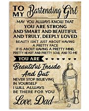 TO MY BARTENDING GIRL DAD 16x24 Poster front