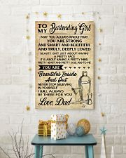 TO MY BARTENDING GIRL DAD 16x24 Poster lifestyle-holiday-poster-3
