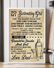 TO MY BARTENDING GIRL DAD 16x24 Poster lifestyle-poster-4