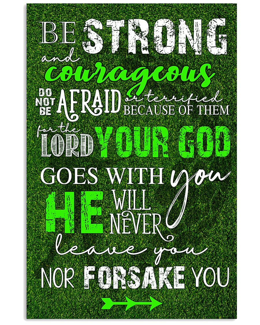 BE STRONG COURAGEOUS DO NOT BE AFRAID GOLF POSTER  16x24 Poster