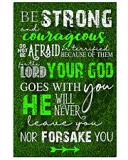 BE STRONG COURAGEOUS DO NOT BE AFRAID GOLF POSTER  16x24 Poster front