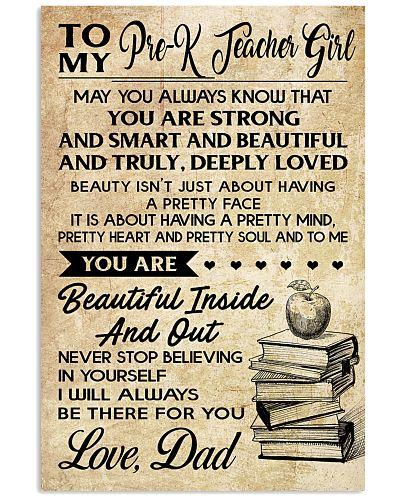 TO MY PRE-K TEACHER GIRL DAD