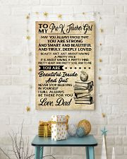 TO MY PRE-K TEACHER GIRL DAD 16x24 Poster lifestyle-holiday-poster-3