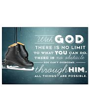9 SKATE - WITH GOD 17x11 Poster front