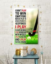 I DON'T PLAY TO WIN COMPETITIONS - HOCKEY 24x36 Poster lifestyle-holiday-poster-3