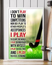 I DON'T PLAY TO WIN COMPETITIONS - HOCKEY 24x36 Poster lifestyle-poster-4