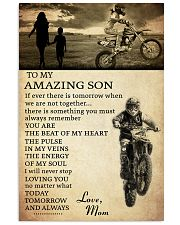 21 motocross- to my amazing son- mom 11x17 Poster front