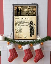 21 motocross- to my amazing son- mom 11x17 Poster lifestyle-holiday-poster-4