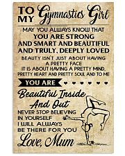 6 - TO MY Gymnastics Girl POSTER 11x17 Poster front