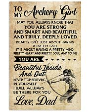 TO MY Archery Girl dad 16x24 Poster front