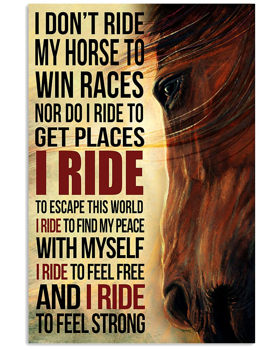 Horse - I Don't Ride My Horse Poster SKY 11x17 Poster