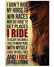 Horse - I Don't Ride My Horse Poster SKY 11x17 Poster front