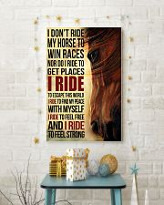 Horse - I Don't Ride My Horse Poster SKY 11x17 Poster lifestyle-holiday-poster-3