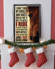 Horse - I Don't Ride My Horse Poster SKY 11x17 Poster lifestyle-holiday-poster-4