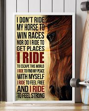 Horse - I Don't Ride My Horse Poster SKY 11x17 Poster lifestyle-poster-4