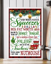 AND WHEN SANTA SQUEEZES TEACHER POSTER 11x17 Poster lifestyle-poster-4