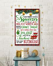 AND WHEN SANTA SQUEEZES TEACHER POSTER 24x36 Poster lifestyle-holiday-poster-3