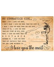 MY GYMNASTICS GIRL - I LOVE YOU THE MOST 17x11 Poster front