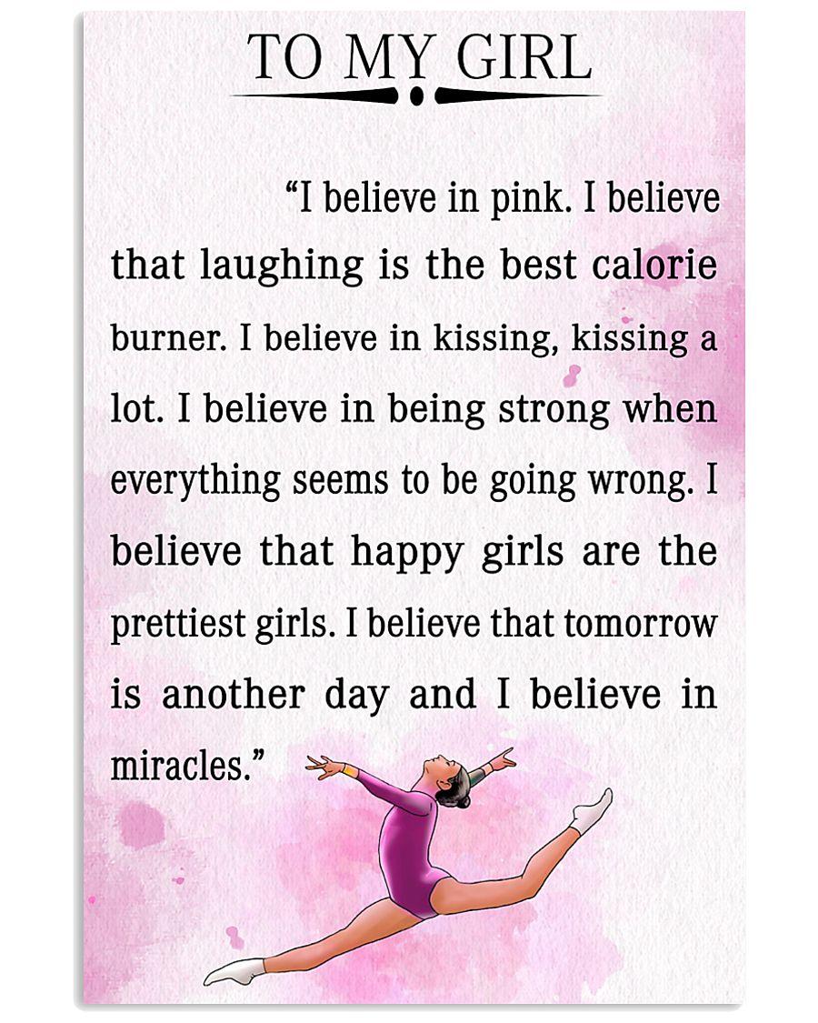 gymnastics - I BELIEVE IN PINK 16x24 Poster