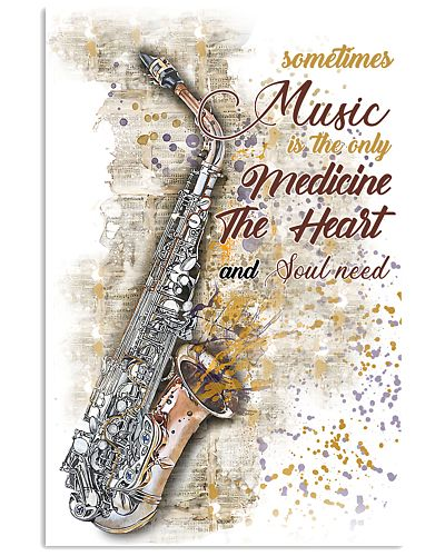 Saxophone Medicine The Heart Poster