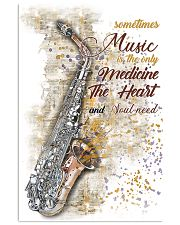 Saxophone Medicine The Heart Poster 11x17 Poster front
