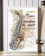 Saxophone Medicine The Heart Poster 11x17 Poster lifestyle-poster-4