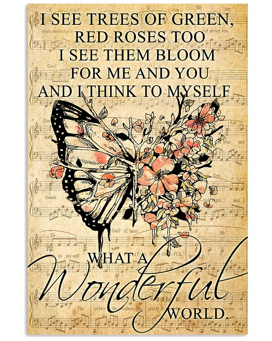Butterfly - Wonderful World Poster SKY 11x17 Poster