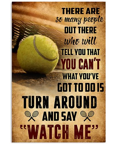 TENNIS - THERE ARE SO MANY PEOPLE POSTER SKY