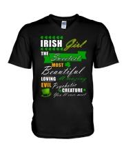irish girl the sweetest V-Neck T-Shirt thumbnail