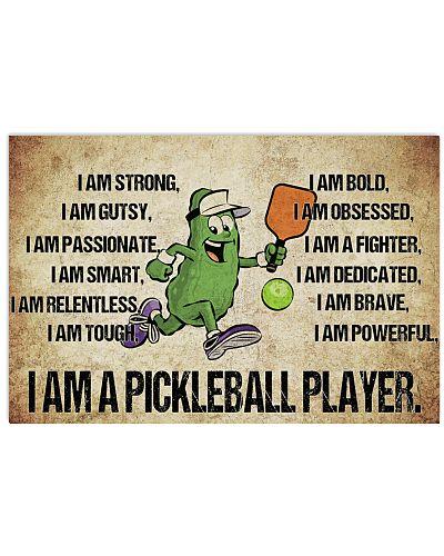 Pickleball - I Am Poster - SKY