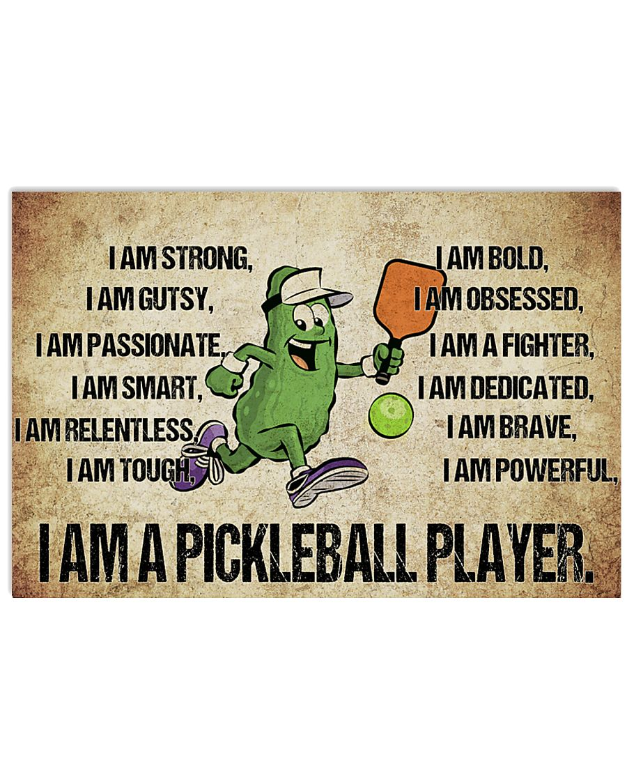 Pickleball - I Am Poster - SKY 17x11 Poster
