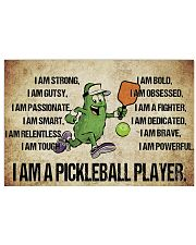 Pickleball - I Am Poster - SKY 17x11 Poster front